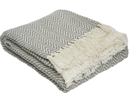 Weaver Green Recycled Plastic Bottle Blanket in Dove Grey at Source for the Goose