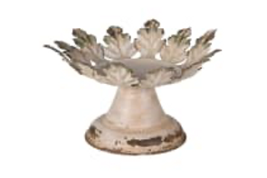 Pretty Candleholder with Distressed Leaf Design