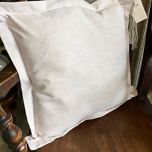 Linen Look Chambray Cushion in French Limestone colour way, neutral tones for all interiors schemes at Source for the Goose