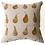 Pear Design Cushion in Golden Mustard Yellow