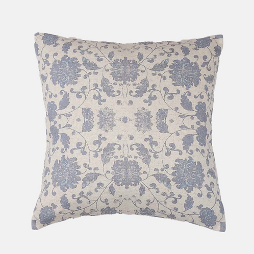 Athena Smoke Cushion in Blue/Grey, Biggie Best homewares at Source for the Goose, South Molton