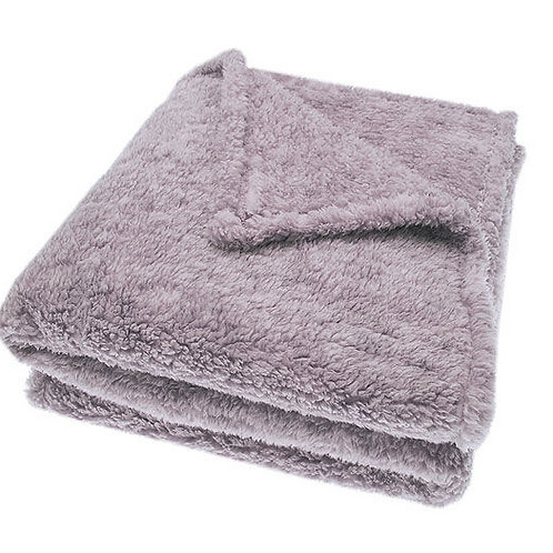 Soft Sherpa Throw in Blush pink from Waltons of Yorkshire, cosy interiors at Source for the Goose , South Molton, Devon