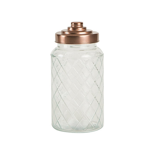 Tall Lattice Jar with Copper Top, interiors at homewares at Source for the Goose, Devon