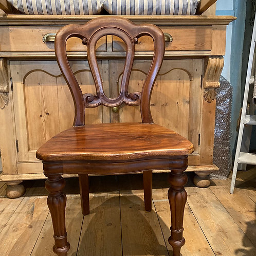 Pretty Mahogany Chair, secondhand furniture at Source for the Goose, Devon