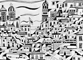 A Town in Black and White