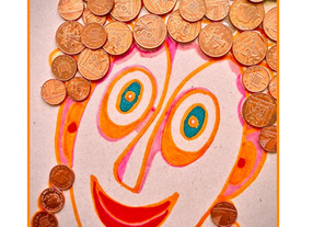 Meet the gorgeous red-head Penny Cash - made from loose change