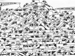 The car dump in colour