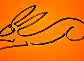 A Hare At Full Pelt