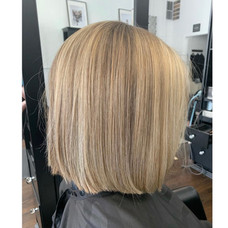 Short hair cut & blonde colored by Josie at Vibe Salon.