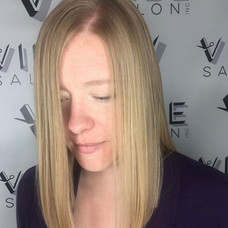Blunt cut & cut by Sladjana at Vibe Salon.