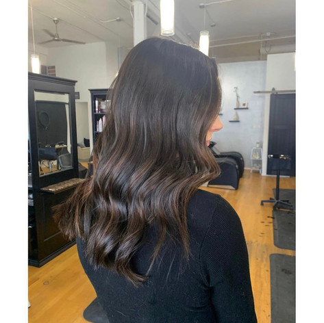 Subtle balayage for this first timer by Frankie at Vibe Salon.