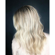 Blonde in the fall by master color stylist Christel at Vibe Saon!