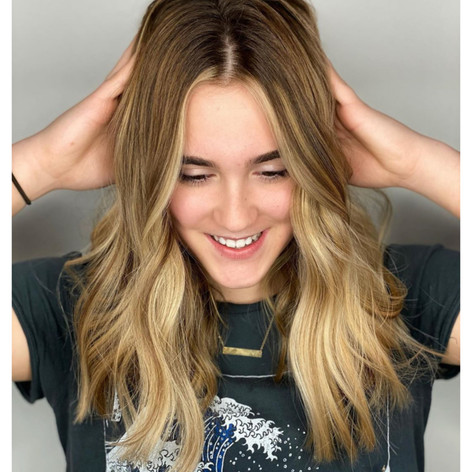 Cool tones for this beauty at Vibe Salon by Christel!