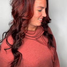 22 inch extensions added by Amanda at Vibe Salon.