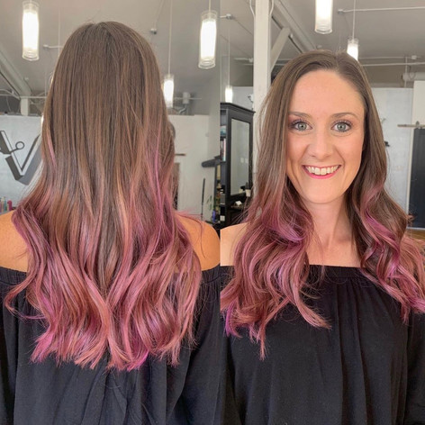 Colored & cut to perfection by Frankie at Vibe Salon.