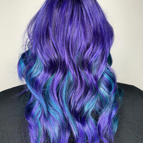 Vibrant colors by Amanda at Vibe Salon.