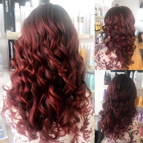 Red hair ombre by Tanja at Vibe Salon!