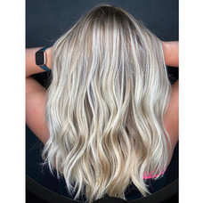 Iced out blonde by Taeylor at Vibe Salon.