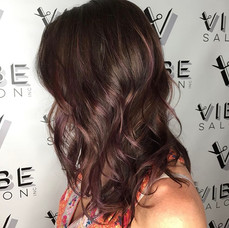 Hair styled & colored at Vibe Salon by Sladjana.