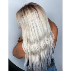 Hair extensions & Icy colored by Taeylor at Vibe Salon.