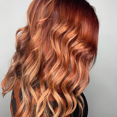 Cinnamon spice colored & styled by Amanda at Vibe Salon.