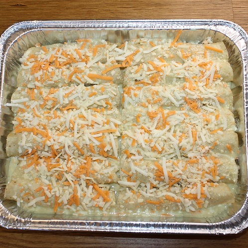 Enchiladas Verdes de Pollo (Serves 4)