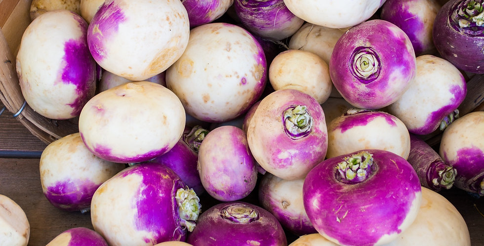 Organic Purple Top Turnips (ea - about 1 lb)