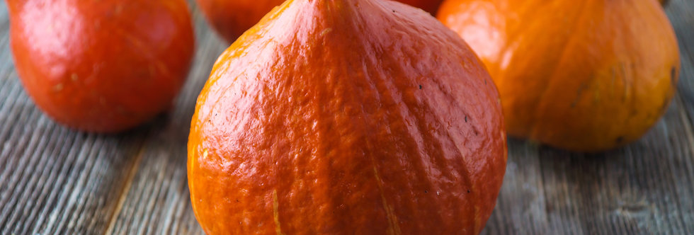 Organic Red Kuri Squash (ea - about 4 lb)