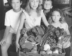 A childhood photo; from left to right, Aaron Pischer, Jessica Pischer, Cody Pischer, and Rachel Pisc