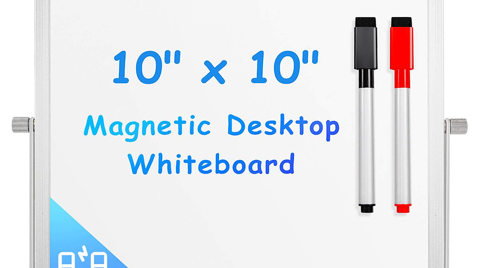 "612677941670 Desktop White Board 10"" X 10"""