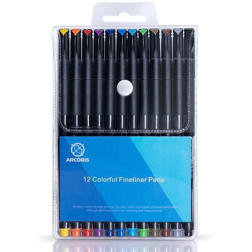 612677941755 Fineliner Color Pens 12 pack