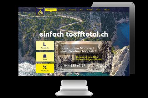 """Webdesign """"Küde's toefftotal.ch"""""""