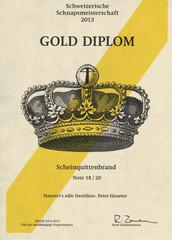 2013 | Gold Diplom für den Scheinquittenschnaps