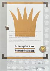 2000 | Goldene Vignette für Bohnapfel