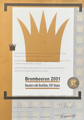 2001 | Schnaps des Jahres für Brombeeren