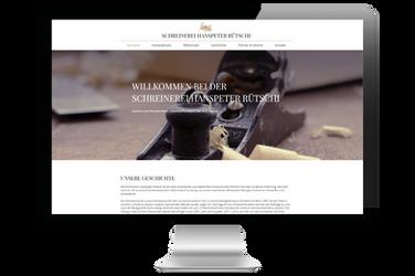"""Website für """"Schreinerei Hanspeter Rütschi"""""""