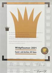 2001 | Goldene Vignette für Wildpflaumen