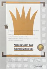2000 | Goldene Vignette für Kornelkirschen