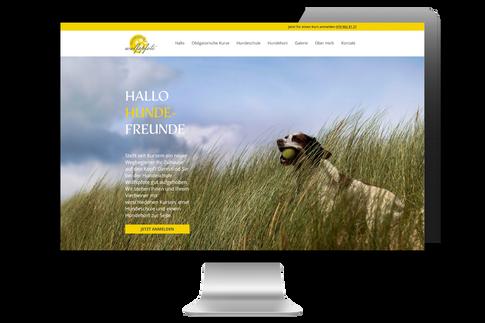 "Webdesign für ""Hundeschule Wolfspfote"""