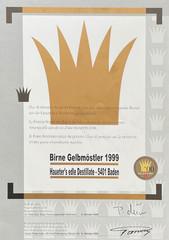 1999 | Goldene Vignette für Birne Gelbmöstler
