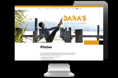 "Website für ""Danas pilates & fitness"""