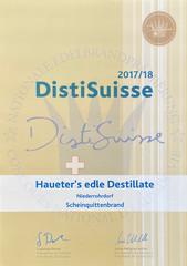 2017/2018 | Gold für Scheinquittenbrand