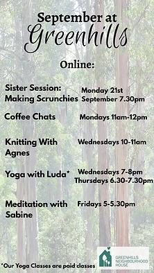 Online classes at Greenhills Greensborough