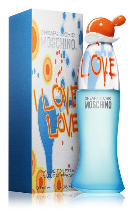 MOSCHINO I LOVE LOVE  DAMA EDT SPRAY 100ML/3.4OZ RIRX XRRX