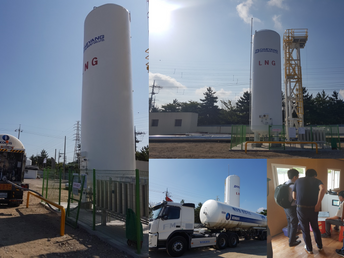 Completed LNG Leveling Test Bed