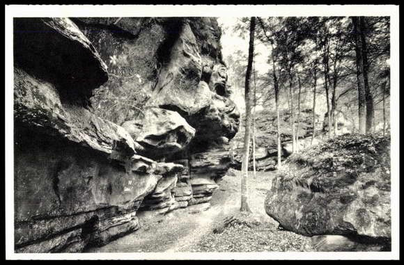 The Goldkaul rock formation near Consdorf, Luxembourg.