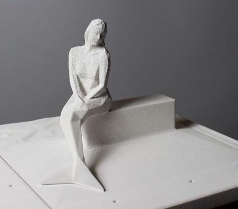 Serge Ecker's award-winning sculpture of Melusina.