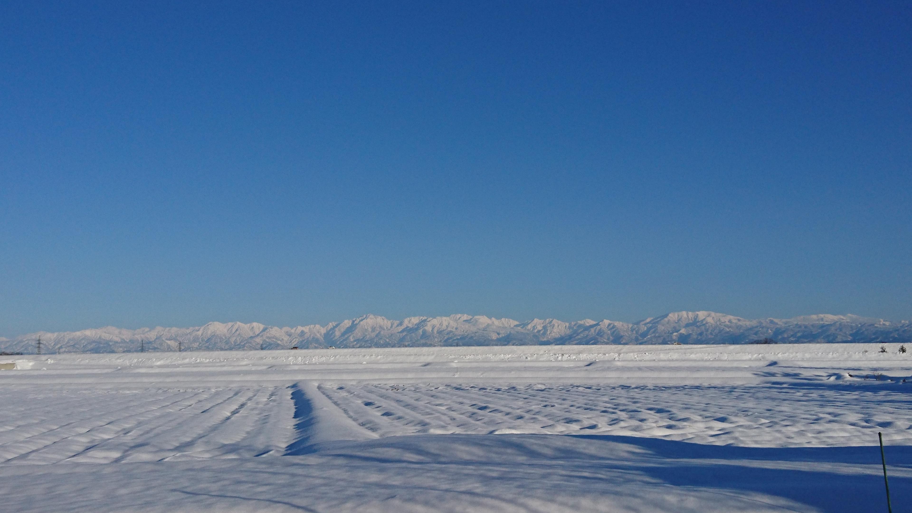 冬には立山がキレイ