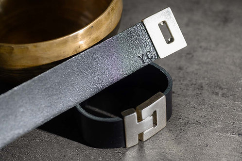 BRACELET CUIR Simple 3 cm noir