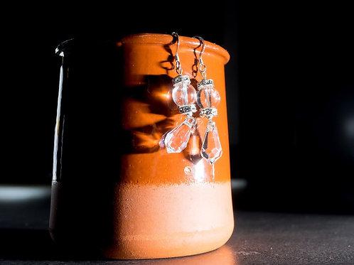 Boucle d'Oreille Cristal de Swarovski et Strass